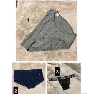 PINK Victoria's Secret- panties size S/P and XS/TP